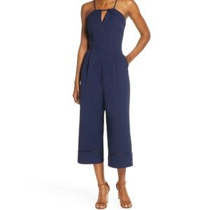 Adelyn Layla Navy Blue Culotte Jumpsuit